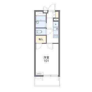 1K Mansion in Harajuku - Yokohama-shi Totsuka-ku Floorplan