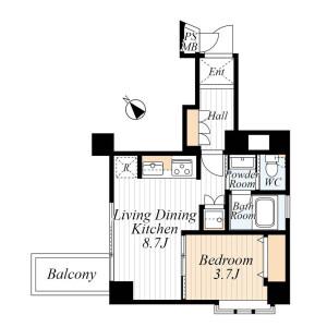1LDK {building type} in Kohinata - Bunkyo-ku Floorplan