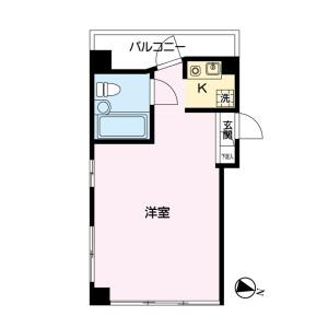 練馬区 石神井町 1R マンション 間取り