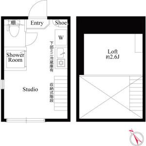 1R 아파트 in Nagasaki - Toshima-ku Floorplan