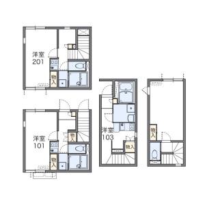 1K Apartment in Fujimicho - Chofu-shi Floorplan