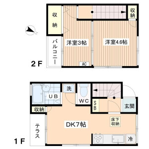 2DK House in Horinochi - Suginami-ku Floorplan