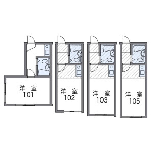 1K Apartment in Gohongi - Meguro-ku Floorplan