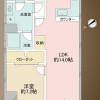 1LDK Apartment to Buy in Shinjuku-ku Floorplan