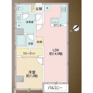 1LDK {building type} in Takadanobaba - Shinjuku-ku Floorplan