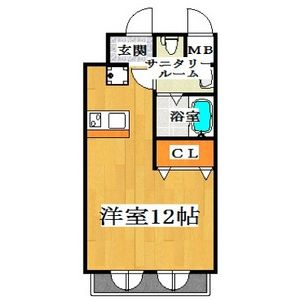 1K Mansion in Suminodo - Daito-shi Floorplan