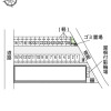 1LDK Apartment to Rent in Oamishirasato-shi Layout Drawing