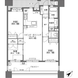 3LDK {building type} in Uenoya - Naha-shi Floorplan