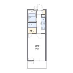 1K Mansion in Sammeicho - Osaka-shi Abeno-ku Floorplan