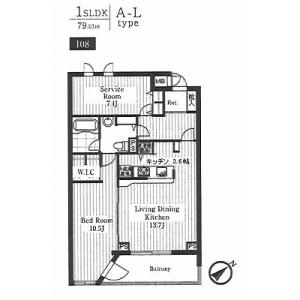 2LDK Mansion in Higashi - Shibuya-ku Floorplan