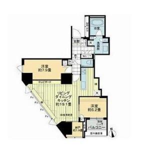 2LDK Mansion in Shirokanedai - Minato-ku Floorplan