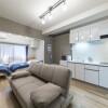 1R Serviced Apartment to Rent in Osaka-shi Yodogawa-ku Living Room