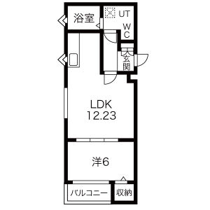 1LDK Mansion in Tatsuminishi - Osaka-shi Ikuno-ku Floorplan