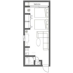 1R Mansion in Kuramae - Taito-ku Floorplan