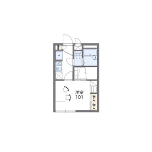横浜市西区東久保町-1K公寓 楼层布局