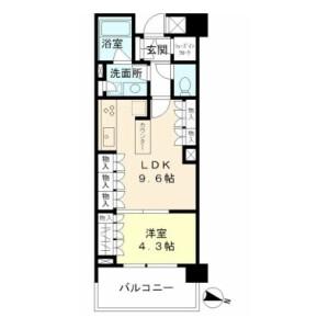1DK Mansion in Shiroganecho - Shinjuku-ku Floorplan
