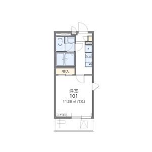墨田區錦糸-1K公寓大廈 房間格局