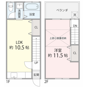 1LDK House in Toriicho - Higashiosaka-shi Floorplan