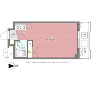 1R {building type} in Hayabusacho - Chiyoda-ku Floorplan