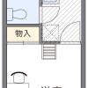 在堺市美原区内租赁1K 公寓 的 楼层布局