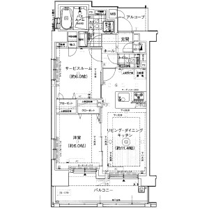 1SLDK Mansion in Shiba(1-3-chome) - Minato-ku Floorplan