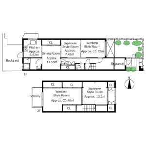 4DK {building type} in Kajiicho - Kyoto-shi Kamigyo-ku Floorplan