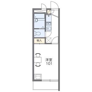 1K Mansion in Oimazatominami - Osaka-shi Higashinari-ku Floorplan