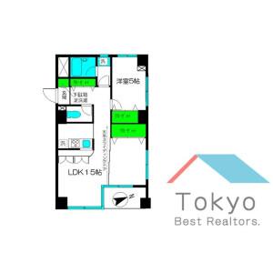 中野區東中野-1LDK公寓大廈 房間格局