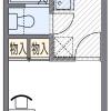 1K Apartment to Rent in Suita-shi Floorplan