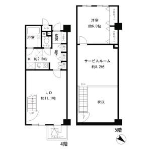 1SLDK Mansion in Akasaka - Minato-ku Floorplan