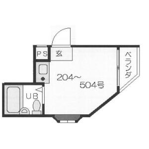 1R Mansion in Shimoshinjo - Osaka-shi Higashiyodogawa-ku Floorplan
