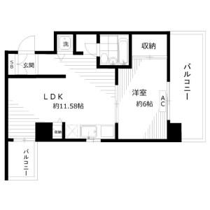 1LDK Apartment in Negishi - Taito-ku Floorplan