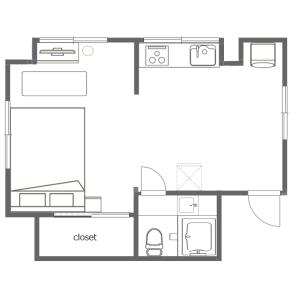 1K Mansion in Sumiyoshicho - Shinjuku-ku Floorplan