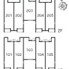 1R Apartment to Rent in Chofu-shi Layout Drawing