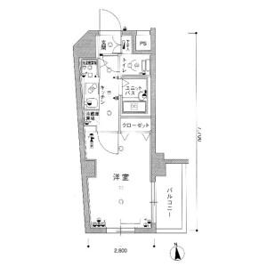 1K Mansion in Kitasuna - Koto-ku Floorplan