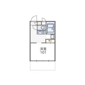 1K Apartment in Kire - Osaka-shi Hirano-ku Floorplan