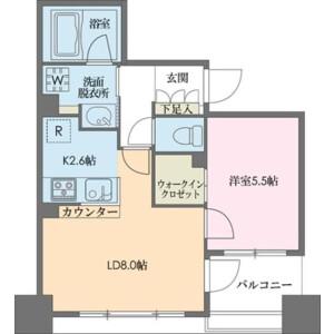 中央區新川-1LDK公寓大廈 房間格局