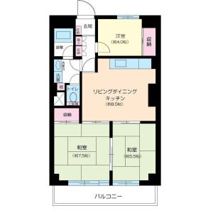 3LDK Mansion in Takadanobaba - Shinjuku-ku Floorplan