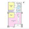 1SLDK Apartment to Rent in Minato-ku Floorplan