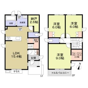 3SLDK House in Asahicho - Nerima-ku Floorplan