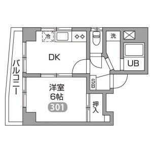 1DK Mansion in Sekiguchi - Bunkyo-ku Floorplan