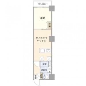 1DK {building type} in Tsurumi - Yokohama-shi Tsurumi-ku Floorplan