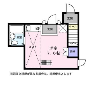 1R Apartment in Wakaba - Shinjuku-ku Floorplan
