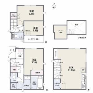 3LDK House in Negishi - Taito-ku Floorplan