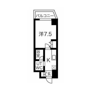1K Mansion in Oimazato - Osaka-shi Higashinari-ku Floorplan