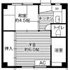 2K Apartment to Rent in Chiba-shi Inage-ku Floorplan