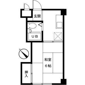 1K Mansion in Miwamachi - Machida-shi Floorplan