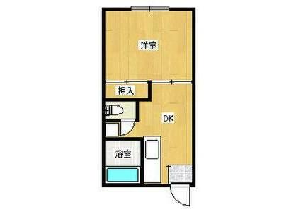 1DK Apartment to Rent in Atsugi-shi Floorplan