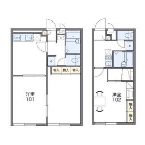 1K Mansion in Miyanosaka - Hirakata-shi Floorplan