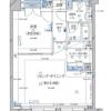 在涩谷区内租赁1LDK 公寓大厦 的 楼层布局